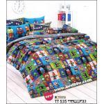 toto ชุดเครื่องนอน ผ้าปูที่นอนลายหุ่นยนต์ โลบอส TT535