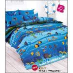 toto ชุดที่นอน ผ้าปูที่นอน ลายปลาใต้ทองทะเล TT541