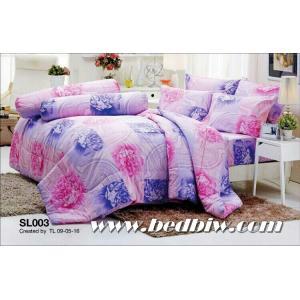 ชุดเครื่องนอน ผ้าปูที่นอน ทิวลิป รหัส SL003