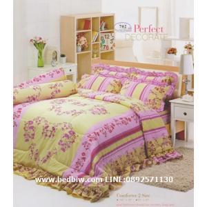 ชุดเครื่องนอน ผ้าปูที่นอน ทิวลิป-tulip ลายดอกไม้ วินเทจ รุ่น 702