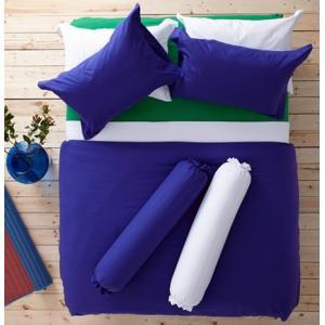 ชุดเครื่องนอน ผ้าปูที่นอน : อิมเพรสชั่น ผ้าสีพื้น : LI - SD -16 สีน้ำเงินเข้ม