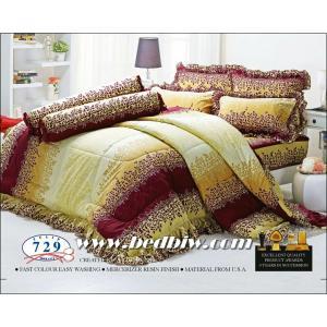 ชุดเครื่องนอน ผ้าปูที่นอน ทิวลิป-tulip ลายคลาสสิค รุ่น 729