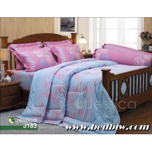 ชุดเครื่องนอน ชุดผ้าปูที่นอน เจสสิก้า ลายดอกไม้ ลายใหม่ รุ่น J183