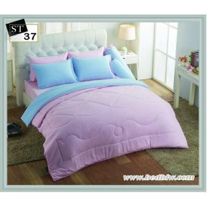 ชุดเครื่องนอน ผ้าปูที่นอน สีพื้น ยี่ห้อแสตม์ป ST37