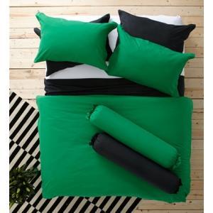 ชุดเครื่องนอน ผ้าปูที่นอน : อิมเพรสชั่น ผ้าสีพื้น : LI - SD - 13 สีเขียว