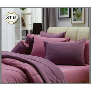 ชุดเครื่องนอน ผ้าปูที่นอน สีพื้น แสตมป์ stamps รุ่นST06