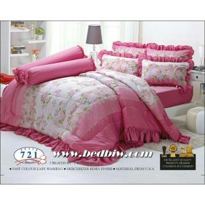ชุดเครื่องนอน ผ้าปูที่นอน ทิวลิป-tulip ลายดอกไม้ รุ่น 721