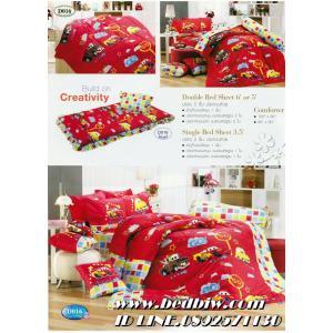 ชุดเครื่องนอน ผ้าปูที่นอน ลายการ์ตูนคาร์(cars) ยี่ห้อ ทิวลิป รุ่นD016