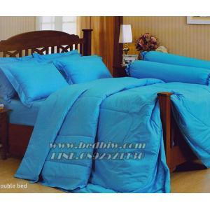 ชุดเครื่องนอน ชุดผ้าปูที่นอน สีพื้น ยี่ห้อ เจสสิก้า สีฟ้า Blue