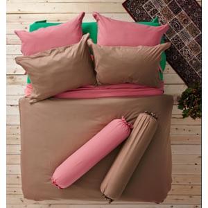 ชุดเครื่องนอน ผ้าปูที่นอน : อิมเพรสชั่น ผ้าสีพื้น : LI - SD -21 สีน้ำตาล