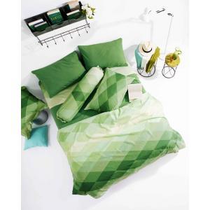 ชุดเครื่องนอนLotus ผ้าปูที่นอนLotus โลตัสสีพื้น-DIAMOND รุ่น LI-SD-13D สีเขียว