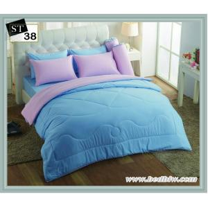 ชุดเครื่องนอน-ผ้าปูที่นอนสีพื้น สีฟ้า ST38
