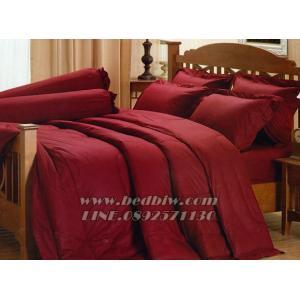 ชุดเครื่องนอน ชุดผ้าปูที่นอน สีพื้น ยี่ห้อ เจสสิก้า สีแดงเข้ม Dark Red