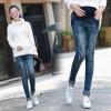 กางเกงยีนส์ขายาวคนท้อง ฟอกซีดแนวเท่ห์ งานสวยตามรูป