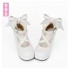 Pre-Order รองเท้าส้นสูงมีสายรัดไขว้ ติดโบว์ใหญ่ด้านหลัง