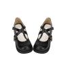 Pre-Order รองเท้าสไตล์นักเรียน สายรัดไขว้ สีดำ