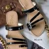 รองเท้าส้นเตี้ย C38047-BLK [สีดำ]