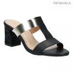 รองเท้าส้นเตี้ย P87204-BLK [สีดำ]
