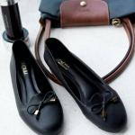รองเท้าส้นแบน C12267-BLK [สีดำ]