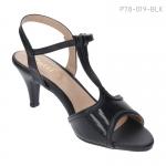 รองเท้าส้นเตี้ย P78-019-BLK [สีดำ]