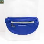 กระเป๋าคาดเอววิ่ง กันน้ำ สีน้ำเงิน Size L มี 3 ซิป เสียบหูฟังได้