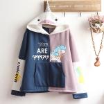 Pre-Order เสื้อกันหนาวฮู้ดยูนิคอร์น สีทูโทน