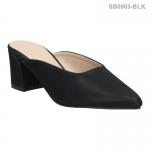 รองเท้าส้นเตี้ย SB0963-BLK [สีดำ]