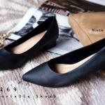 รองเท้าส้นเตี้ย C12269-BLK [สีดำ]