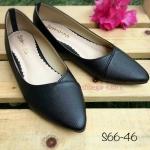 รองเท้าส้นเตี้ย S66-46-BLK [สีดำ]