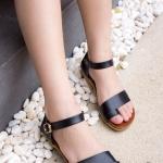 รองเท้าส้นแบน F59138-BLK [สีดำ]
