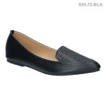 รองเท้าส้นเตี้ย S55-72-BLK [สีดำ]