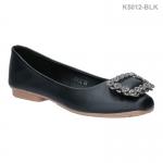 รองเท้าคัทชูส้นแบน K5012-BLK [สีดำ]