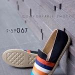 รองเท้าส้นแบน F-59067-BLK [สีดำ]