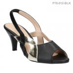 รองเท้าส้นเตี้ย P78-012-BLK [สีดำ]