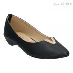 รองเท้าส้นเตี้ย S66-43-BLK [สีดำ]