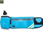 กระเป๋าคาดเอววิ่ง กันน้ำ สีฟ้า ใส่ขวดน้ำ แถมขวดน้ำ 300cc 1 ขวด