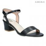 รองเท้าส้นเตี้ย A-063-BLK [สีดำ]