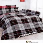 toto ลายสวย ลายสก๊อต ชุดผ้าปูที่นอน เซ็ตผ้าปูที่นอน TT502