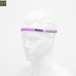 สายซิลิโคนคาดหัวกันเหงื่อเข้าตา สีม่วง ZEUS Silicone Sweatband