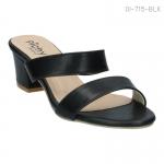 รองเท้าส้นเตี้ย OI-715-BLK [สีดำ]