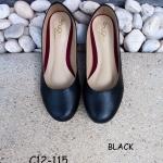รองเท้าส้นแบน C12-115-BLK [สีดำ]