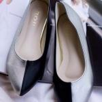 รองเท้าส้นเตี้ย C44-107-BLK [สีดำ]