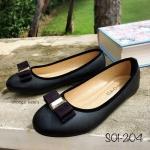 รองเท้าส้นเตี้ย S01-204-BLK [สีดำ]