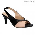 รองเท้าส้นเตี้ย P73-128A-BLK [สีดำ]