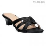 รองเท้าส้นเตี้ย P73-159-BLK [สีดำ]