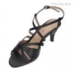 รองเท้าส้นเตี้ย P78-036-BLK [สีดำ]