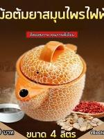 หม้อต้มยาสมุนไพรไฟฟ้า สีส้ม 4 ลิตร | SmartHerbalDrink