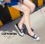 รองเท้าผ้าใบ ส้นเเบน(สีดำ) thumbnail 5