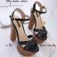 รองเท้าส้นสูง สไตล์เกาหลีงานนำเข้า(สีดำ) thumbnail 4