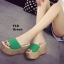 รองเท้าส้นเตารีด สไตล์เกาหลี(สีเขียว) thumbnail 5